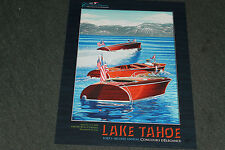 2014 signed poster from the Lake Tahoe Wooden Boat Concours by Roy E. Dryer III