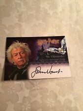 Harry Potter & the Sorcerer's Stone Autograph Card Artbox Mr. Ollivander