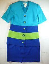 NWT OUTLANDER SUIT WOMENS BLUES AND GREEN COTTON 2 PIECE SUIT SIZE 8 C185 BB3