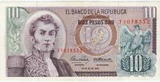 A   SAISIR     BILLET   10   PESOS   COLOMBIE    1965      !!!!    SUPERBE