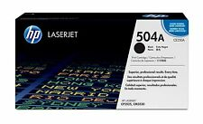 HP 504A Black Original LaserJet Toner Cartridge (CE250A), Yield 5000