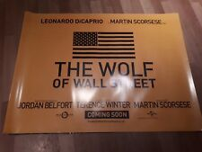 The Wolf of Wall Street UK Cinema Quad Poster d/s full size ORIGINAL teaser