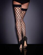 Agent Provocateur BUBBLES Large Fishnet Hold-Ups Size L NWT Orig. $70 Black