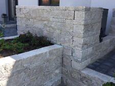 Travertin Silber Mauersteine  Trockenmauer Steinmauer Naturstein