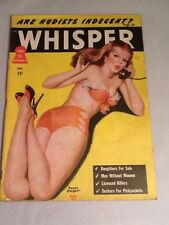 Vintage march 1949 Whisper Peter Driben Cover adult mens magazine cheesecake