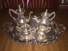 Reed & Barton ~ Sheffield Co. Silver-Plated 5-Piece Matching Tea Set ~ Ornate