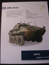 USMC LAV A2 Stryker Data Sheet / General Dynamics / NEW