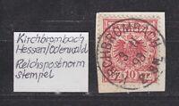 """DR - Stempel """"KIRCHBROMBACH"""" (Hessen/Odenwald), 3.11.93 2-3 N. - bitte ansehen !"""
