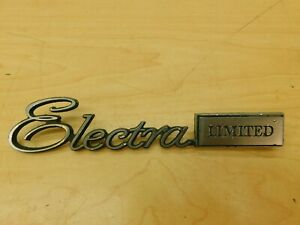 """""""ELECTRA LIMITED"""" TRUNK LID EMBLEM 1971 BUICK ELECTRA LIMITED 71BE1-1N9"""