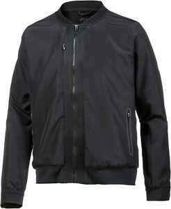 Asics Men's Bomber Jacket Fuze X Full Zip Water Resistant Jacket - Black - New