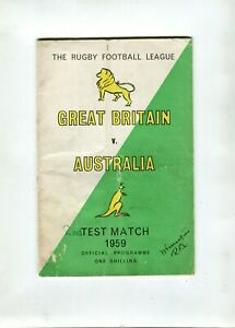 Great Britain v Australia Rugby Test 1959