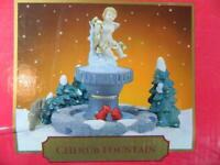 Santa's Workbench Cherub Fountain Christmas Village Accessory Jo Anns ~ MINT