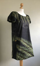 SARAH ARNETT England Stunning Shift Or Tunic Dress With Amazing Leaf Print 12