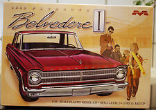 1965 Plymouth Belvedere 1:25, Moebius 1218 nuevo New Tool 2016 nuevo, nuevo