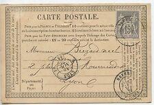 CARTE POSTALE PRECURSEUR NEVERS / LYON 1876