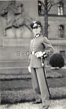 WWII German RP- Army- Soldier- Hat- Dress Uniform- Gloves- Sword- Horse Statue