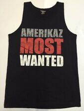 Carbon Men's BLACK muscle T-Shirt AMERICAZ MOST WANTED Size Small FREE SHIP H22