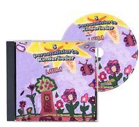 5 personalisierte Kinderlieder auf CD - Jeder Wunschname möglich !