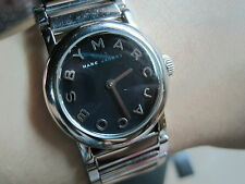 MARC JACOBS WOMEN'S WATCH-STAINLESS STEEL,BLACK FACE