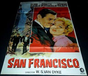 1936 San Francisco ORIGINAL SPAIN POSTER Clark Gable Spencer Tracy