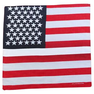 1pce Bandana 54x54cm American / USA / United States of America Flag Design