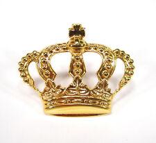 Pin Brosche Krone gold 18kt vergoldet König Königin echtvergoldet royal klein