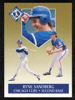 1991 Fleer Ultra Gold #10 Ryne Sandberg Chicago Cubs HOF Insert Card NM/MT+