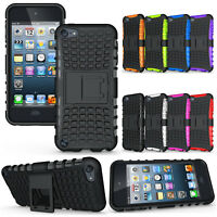 For iPod Touch 5th Gen Stand Case Hybrid Heavy Duty Rugged Grip Hard Cover