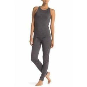 Calvin Klein Women's Tank Top & Jogger Pants Pajamas Set Charcoal-Blueish Gray