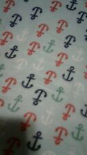 Anchors baby toddler fleece 36x29   blanket free personalized