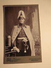 Jüterbog - stehender Soldat in Uniform mit Säbel Parade-Helm - Patrone Ari ? CDV
