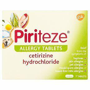 Piriteze Dust Mould Pet Skin Allergy and Hayfever Tablets 7 - Multibuy