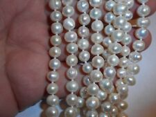 """Vintage Endless strand Genuine 7mm Cultured Pearl 68"""" NECKLACE Handknotted mint"""