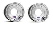 """DWT Polished ATV Front Wheels Rims PAIR 10"""" Honda 450R 400EX 250R 300EX 250X 250"""