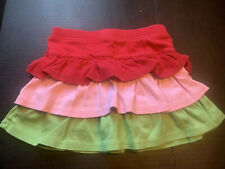 Girls 5 Gymboree WATERMELON PICNIC Knit Tier Ruffles Skirt/Shorts Skort Summer