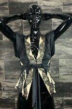 NWOT Sass & Bide Black Beige Lace ButtonUp Kimono Silk Top