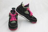 Nike Air Jordan 4 Retro GS Youth Size 5Y Fuchsia Black Pink Lime 705344-027