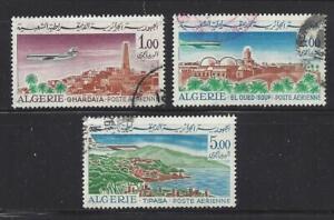 ALGERIA - C13-C15 - USED - 1967-68 - CARAVELLE OVER GHARDAIA,TIPASA & EL OUED