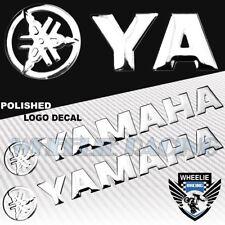 "2X 5.75""X 1""3D POLISHED ABS/SHINY EMBLEM DECAL LOGO+LETTER STICKER YAMAHA CHROME"