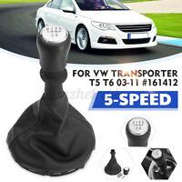 5 Velocità Cambio Leva Pomello Cuffia Stivale Cover Per VW Camion T5 T6 03-11