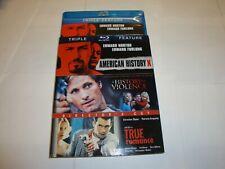 True Romance / A History of Violence /American History X (Blu-ray Disc, 2012,.