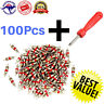 Valve Core Remover with 100Pcs Car Truck Replacement Tire Tyre Valve Stem Cor K5