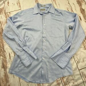 Van Heusen mens fitted dress shirt-blue-size 34/35 Large-guc