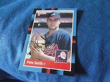 Peter Smith Atlanta Braves 1988 Donruss Autographed Baseball Card