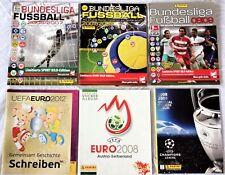 6 PANINI ALBUM ! EURO 2008 2012 CL 08 Bundesliga 2006 2007 2008 LEERALBUM EMPTY!