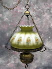 ANTIQUE Gone With the Wind hanging SWAG lamp