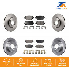 Front Rear Disc Brake Rotors And Ceramic Pads Kit For Hyundai Sonata Kia Optima