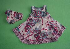 Monsoon green purple cream dress for girl 12-18 months 100% cotton