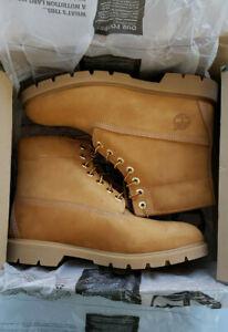 """Timberland 6"""" Basic Mens 10066 Wheat Nubuck PrimaLoft Waterproof Boots Size 9.5W"""