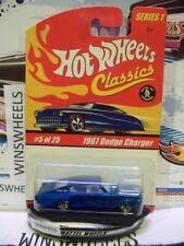 HOT WHEELS 2005 CLASSICS #5 -2 1967 DODGE CHARGER BLU PRINT BASE 5SP SERIES 1 😍
